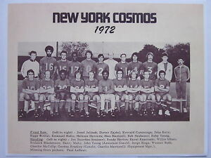1972 New York Cosmos Team Photo Nice Reproduction Great For Framing