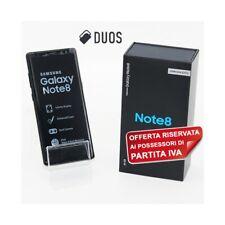 "SAMSUNG GALAXY NOTE 8 DUOS BLACK 64GB DUAL SIM 6,3"" N950FD N950F PER P.IVA."