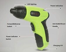mini Battery LED Cordless Electric Screwdriver with Hex Star Socket Bits Charger