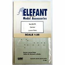 Elefant allemande No.35.473 plaques d'immatriculation SET 1/35 SCALE DECALS