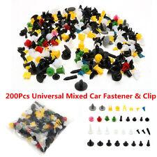 200pc Mixed Car Bumper Retainer Car Fastener Rivet Door Panel Fender Liner Clips