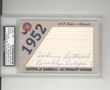 Johnny Rutherford auto card 15/21 2018 Historic Autograph Capitol 1952 Dodgers
