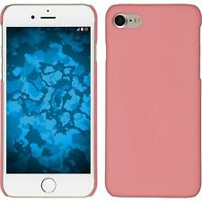 Hardcase Apple iPhone 7 / 8 rubberized pink Cover + protective foils