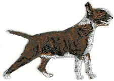 "2 1/4"" x 3 1/8"" Bull Terrier Full Body Dog Breed Embroidery Patch"