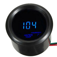 300 ℉ Water Temperature Gauge 2 Inch 52mm Car Blue LED Digital Water +Sensor