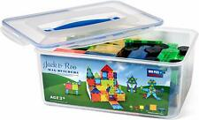 Jack & Roo 104-Piece Magnetic Tiles with Storage Case! Compatible w/ Magna Tiles