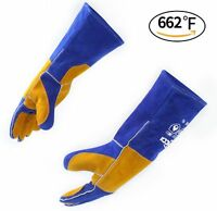 RAPICCA Leather Forge Welding Gloves 662°F(350℃) Heat/Fire Resistant, Mitts