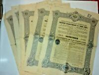 lot de 5 emprunts   RUSSE 1909