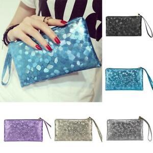 Women Fashion Glitter Sequins Handbag Evening Party Clutch Bag Wallet Purse