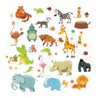 Jungle Wall Stickers Kids Room Jungle Animals Decor Safari Decals Baby Rooms Art