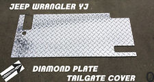 Jeep Wrangler YJ Highly Polished Aluminum Diamond Plate Tailgate Cover 1987-1995