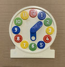 Vintage The Eagle School FUN-N-LEARN Clock Face With Removable Numbers