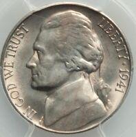 1941-S 5C Jefferson Nickle Inverted Mint Mark FS-503 (FS-024.6) PCGS MS65 LUSTER