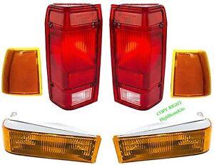 89 90 91 92 FORD RANGER 6PC Front & Tail LIGHT KIT Bronco II, 91 94 Explorer