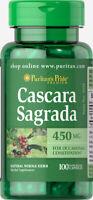 Puritan's Pride Cascara Sagrada 450 mg - 100 Capsules (free shipping)