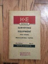 Vtg Book! K&E Keuffel & Esser Co.  Catalog Surveying Equipment Field Books Measu