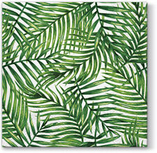 Green TROPICAL LEAVES  Paper Lunch Napkins 20pcs Florida Hawaiian Summer Party
