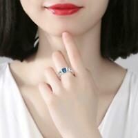 Frauen stilvolle Schmetterling Zirkon Kupfer Ring Schmuck Ring Y4O5