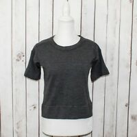58840defb5 EVERLANE Women s 100% Wool Cropped Sweater Short Sleeve Gray Size Small