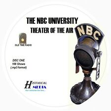 NBC UNIVERSITY THEATER - 108 Shows Old Time Radio In MP3 Format OTR On 3 CDs