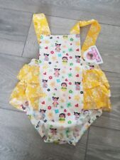 JELLY THE PUG GIRLS ROMPER SUIT AGE 24 MONTHS YELLOW FRILL