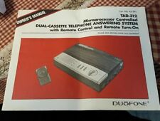 Vintage Duofone Answering Machine Owners Manual