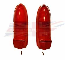 Pair New Upper & Lower Tail Lamp Stop Light Lens MGB MG Midget 1962-1969 Red
