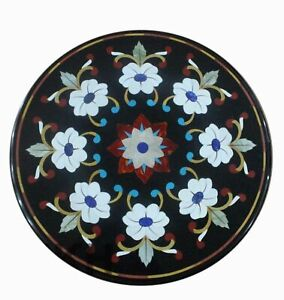 "12"" Table Marble Inlay Top pietra Dura Home garden coffee dining  Decor t43"