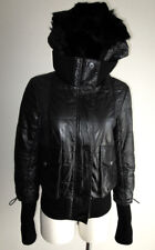 Patrizia Pepe Firenze Black Leather Jacket size 44 made in Italy