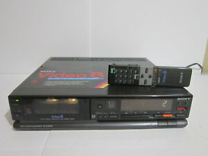 Sony EV-A300U Video 8 Tape Player 8mm with Remote All Working