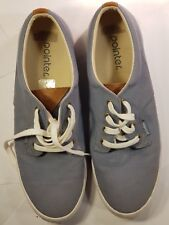 POINTER Mens Sneakers Casual Lace Up Trainers Shoes Grey Blue UK10.5 / EU45