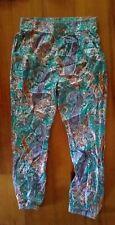 Ladies Boho harem stretch waist Pants Size 12.