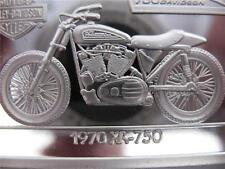 1.4-OZ.999 PURE SILVER 1970 XR-750 HARLEY DAVIDSON 90TH ANNIVERSARY INGOT + GOLD