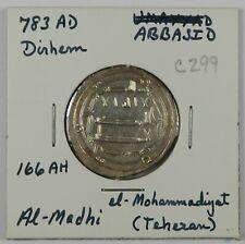 C299 Abbasid, AR Dirham of Al-Madhi, 783AD D