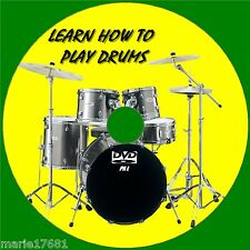 LEARN TO PLAY DRUMS OVER 2Hrs OF BEGINNERS LESSONS STEP BY STEP GUIDE NEW DVD