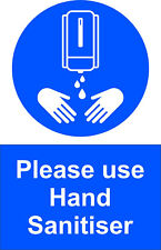 A6 Hand Sanit Signs, Health & Safety Signs, Self Adhesive Packs Of 5