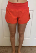 """Lululemon Size 4 Speed Up MR Short 4 """" Lined Red CRNR Tracker Mid Rise Run"""