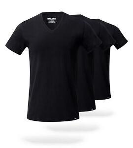 The Solid Stealth Black SuperSoft V-Neck Undershirt 3 Pack