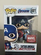 Marvel Funko Pop - Captain America - Marvel Collector Corp - No 481