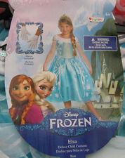 NWT Disney DELUXE Princess ELSA Dress & Gloves  Sz 4-6X Costume Halloween