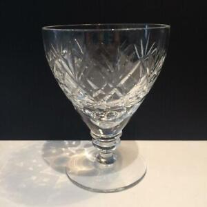 """WEBB CORBETT GEORGIAN CRYSTAL SET OF 7 WATER GOBLET GLASSES 4.5"""" CR1626"""