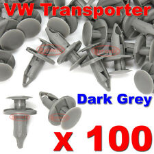 100 VW TRANSPORTER T4 T5 LONGER LONG TRIM PANEL CLIPS DARK GREY CARPET LINING