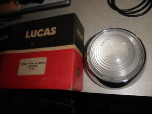 Genuine NOS Lucas#54571873,L670 RH,LH Clear Flasher Chrome Rim&Lens Volvo P1800S