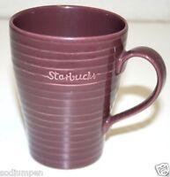 2009 Tall Starbucks Coffee Tea Purple Plum Colored Original Ribbed Mug Cup