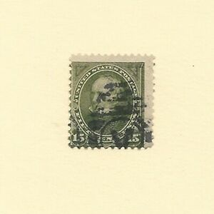 US Scott #284  15c Clay Used, Fancy Canceled, Hand Stamped, No Gum.