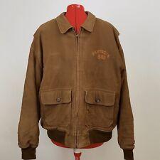 Partagas Cigar  Classics 1845 Genuine Leather Bomber Men's XL Brown Jacket