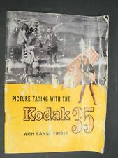 Picture Taking With The Kodak 35 With Range Finder 1947 Camera Instruction
