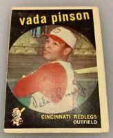 1959 Topps # 448 Vada Pinson Baseball Card Cincinnati Redlegs Reds Red Legs