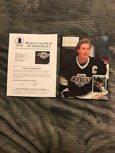 Wayne Gretzky LA Kings Hockey Beckett  Signed Autographed Beckett LOA
