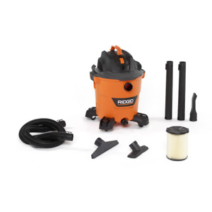 5.0 Peak HP Wet/Dry Shop Vacuum with Filter Hose and Accessories 12 Gallon